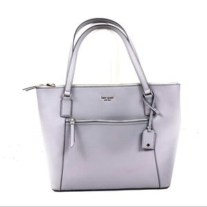 KATE SPADE NEW YORK Lilac Purple Leather Tote Bag